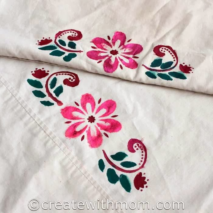 Create With Mom Fabric Paint Adorable How To Cover A Pillow With Fabric