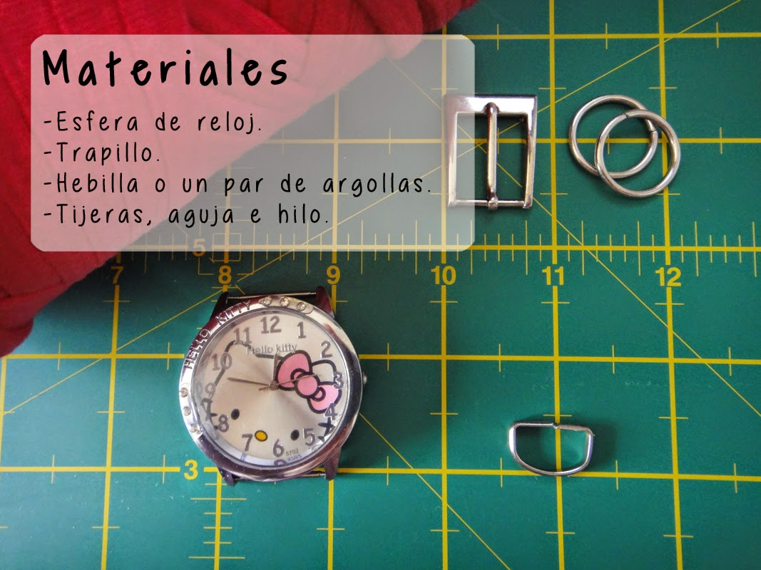 DIY- Correa de reloj - Materiales