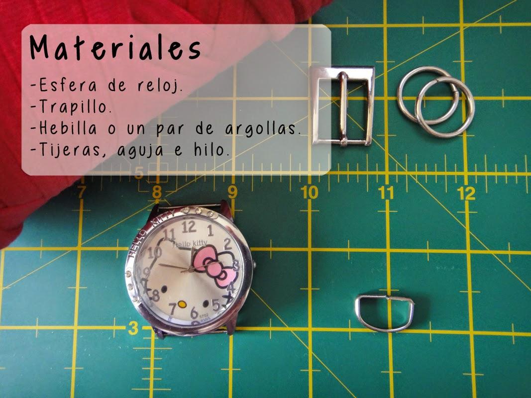 DIY- Correa de reloj - Materiales
