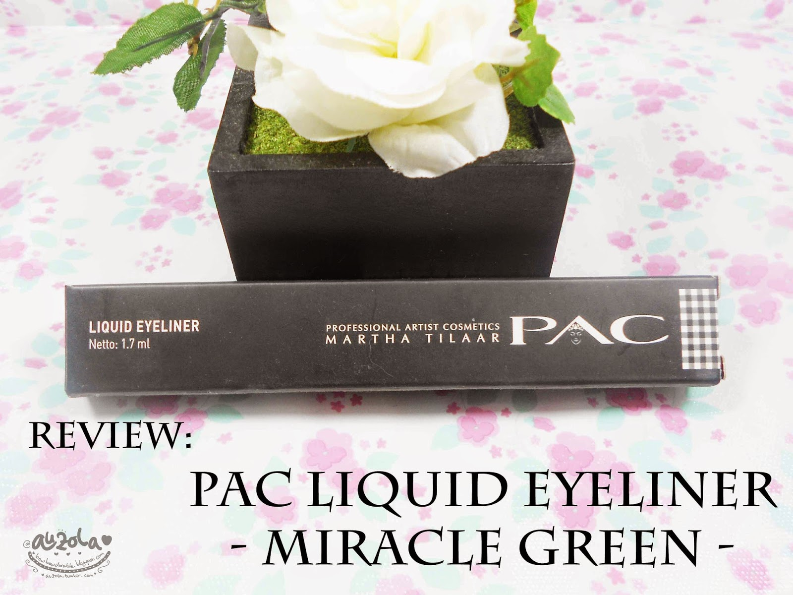 Rainbowdorable By Auzola Indonesian Beauty Blogger Review Pac Pixy Line Shadow Eyeliner Green Name Liquid Miracle Content 17ml Made In Indonesia Price About Idr 190k Around Usd19 Based On Store