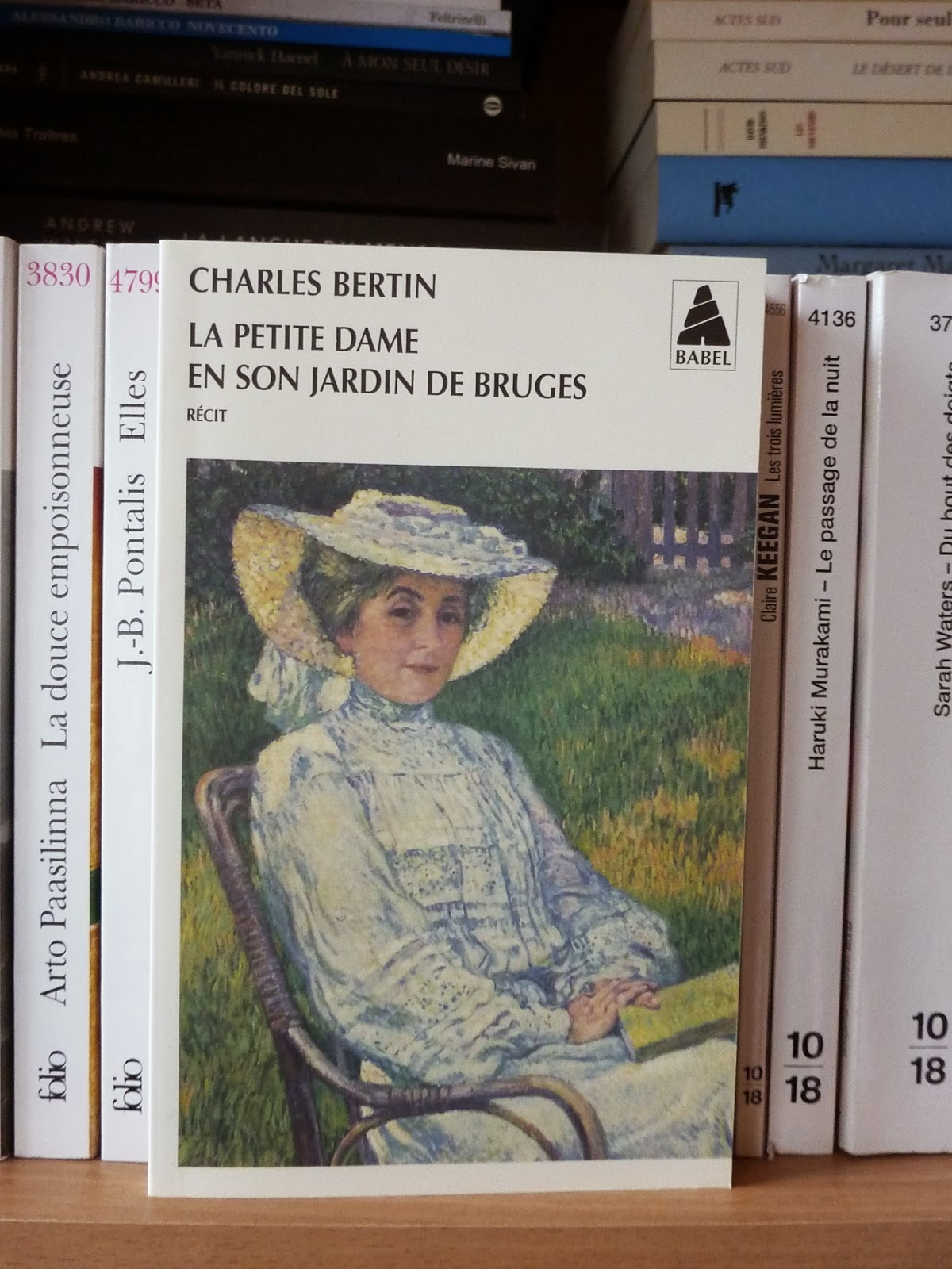 La petite dame en son jardin de Bruges - Charles Bertin