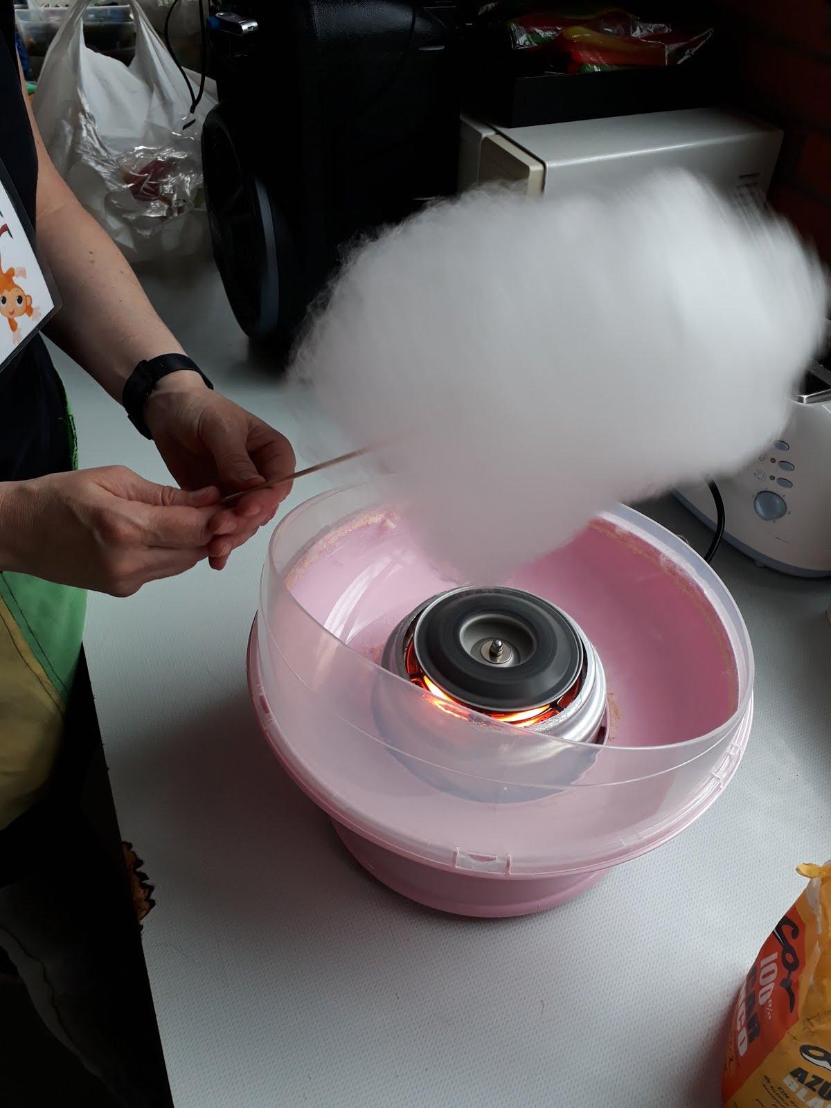 Hoy hicimos algodón de azúcar
