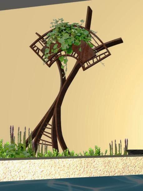 Adornos estilizados para jardines campos de amapolas y for Arboles decorativos para jardin