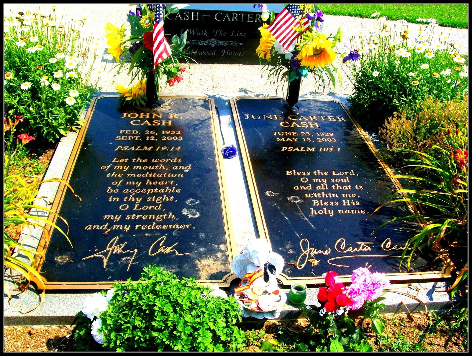 Johnny Cash Amp June Carter Grave Stones