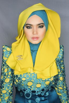 Hijab -Style -Artis -Cantik -Siti -Nurhaliza