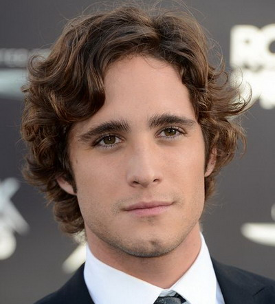 Medium Mens Curly Hairstyles 2013