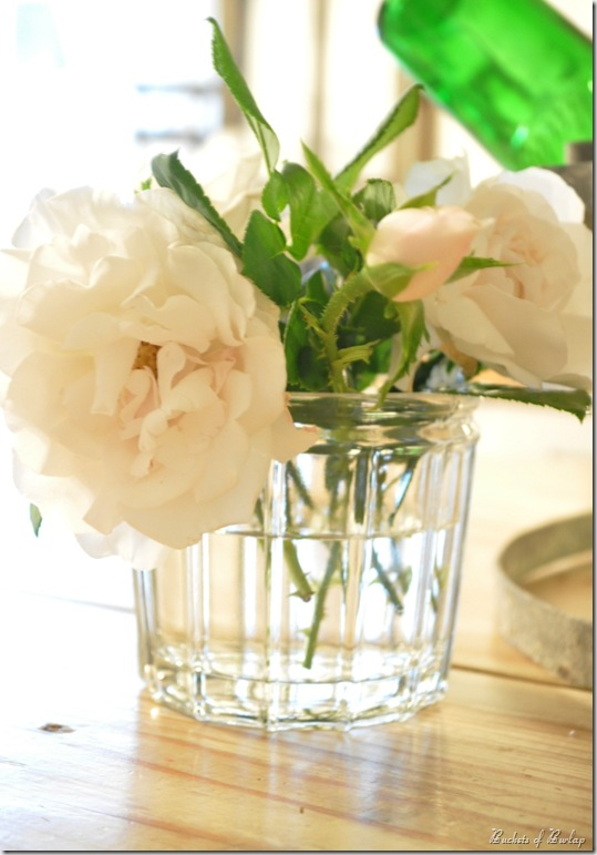 French jelly jars for flowers