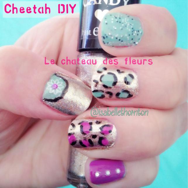 Isabelle Thornton Le Chateau Des Fleurs Easy Nail Art Cheetah