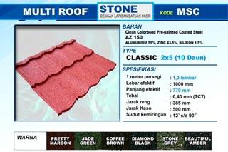 Jual Genteng Metal Multi Roof Murah