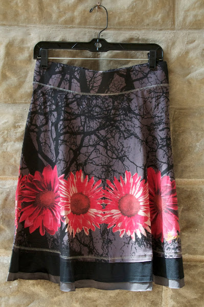 Knit flower skirt, S-xl, $74