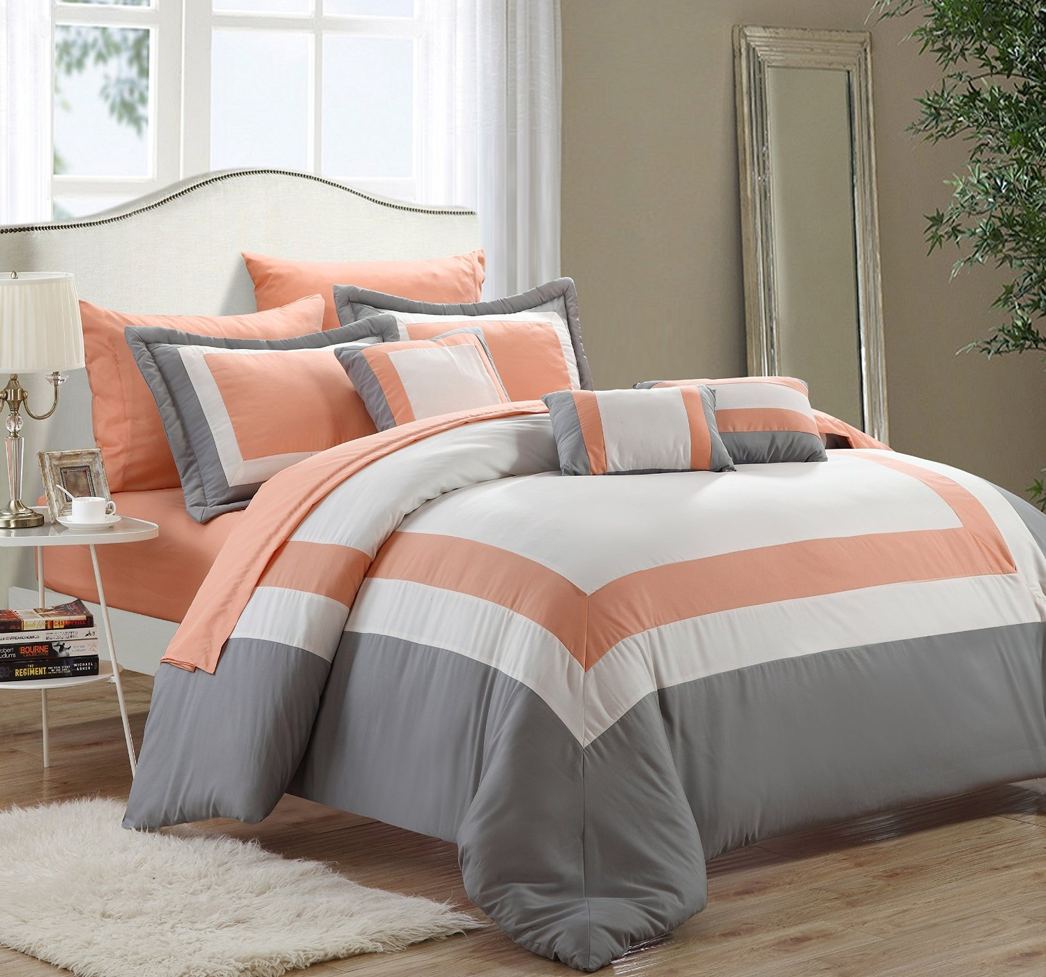 collection comforter set claudia piece is bedroom elegantlinensanddecor comforters from product bedding the gray com sets this