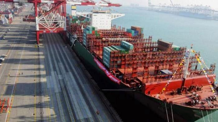 Kapal Barang Terbesar di Dunia Mulai Pelayaran ke Eropa