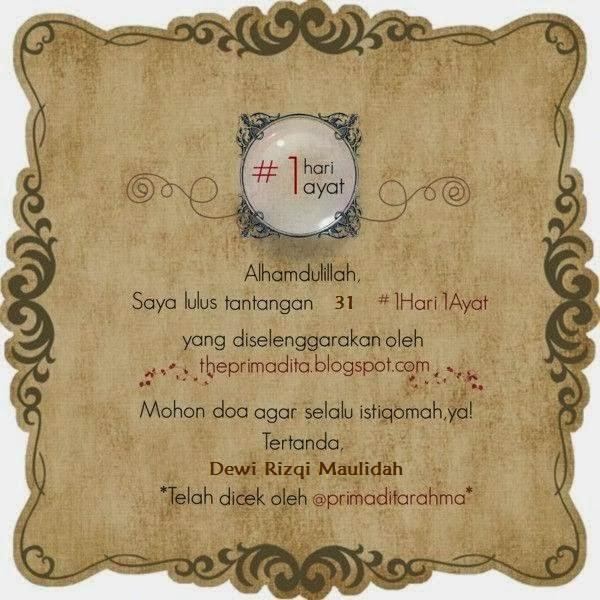 My Certificate #1Hari1Ayat