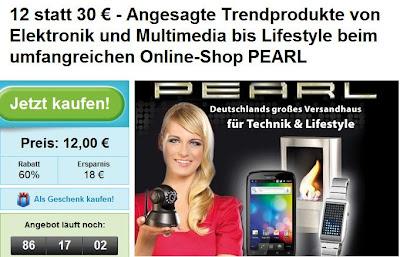 Groupon: Pearl-Gutschein im Wert von 30 Euro für 12 Euro