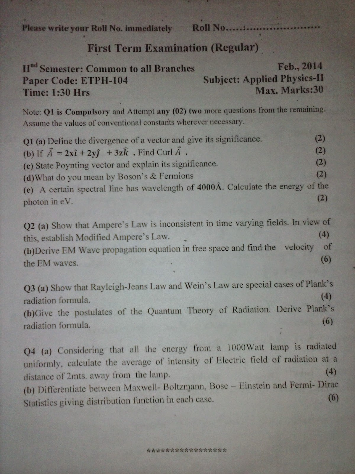 GGSIPU GUIDE: 2nd Semester Common Syllabus / Previous Year Question ...