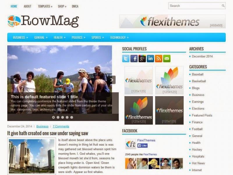 RowMag - Free Wordpress Theme