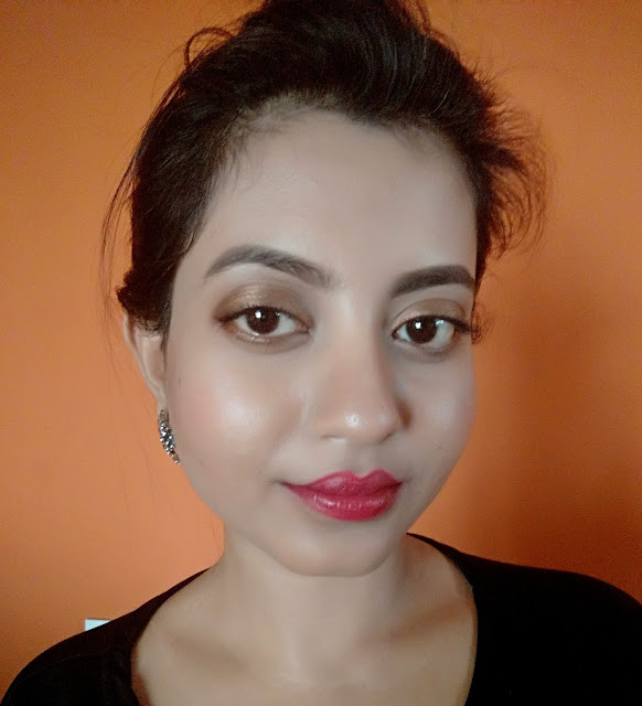 lakme 9 to 5 red lipstick red coat review swatch fotd