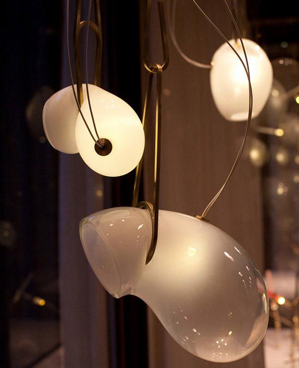 lamparas colgantes diseño organico  vidrio