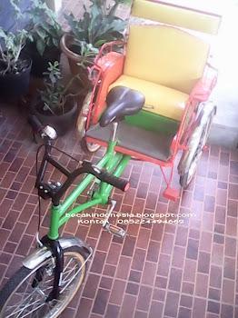 Becak Mini setir depan tanpa kap