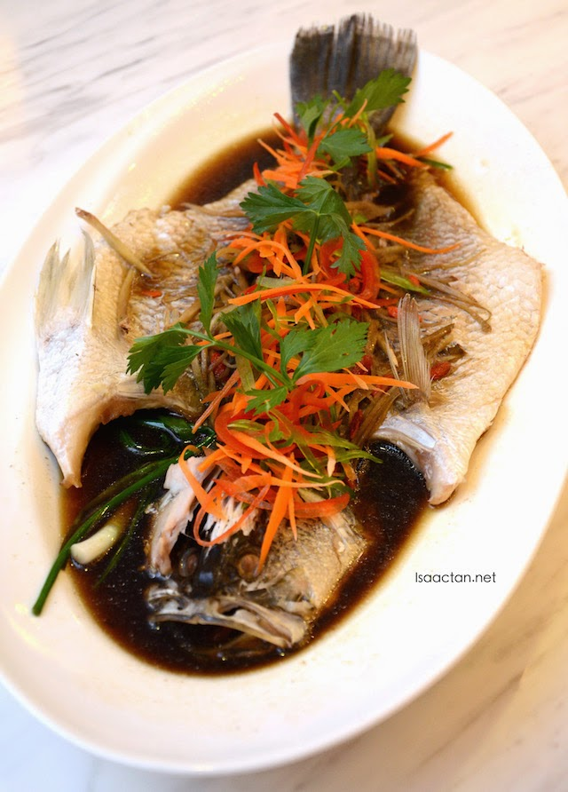 Steamed Seabass with Superior Soy Sauce