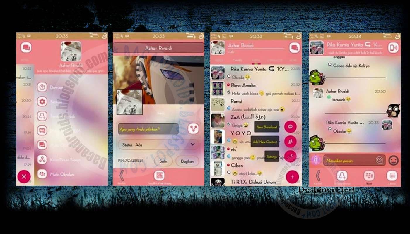 download Update BBM Mod Tema Pink Everlasting Love V2.8.0.21