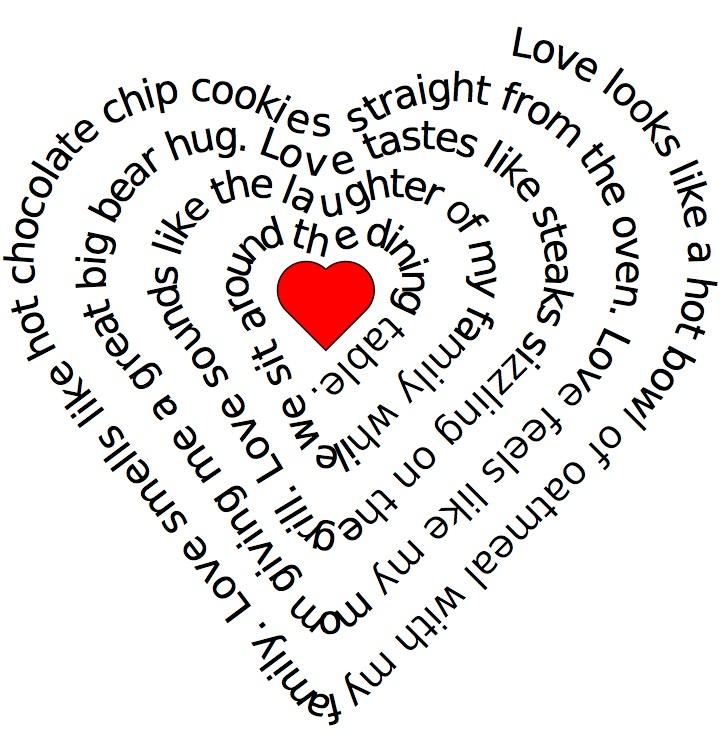 Heart Concrete Poem Concrete Poems Love Download Heart Shape Poems