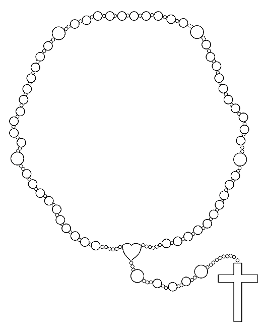 Gallery For gt Rosary Drawings