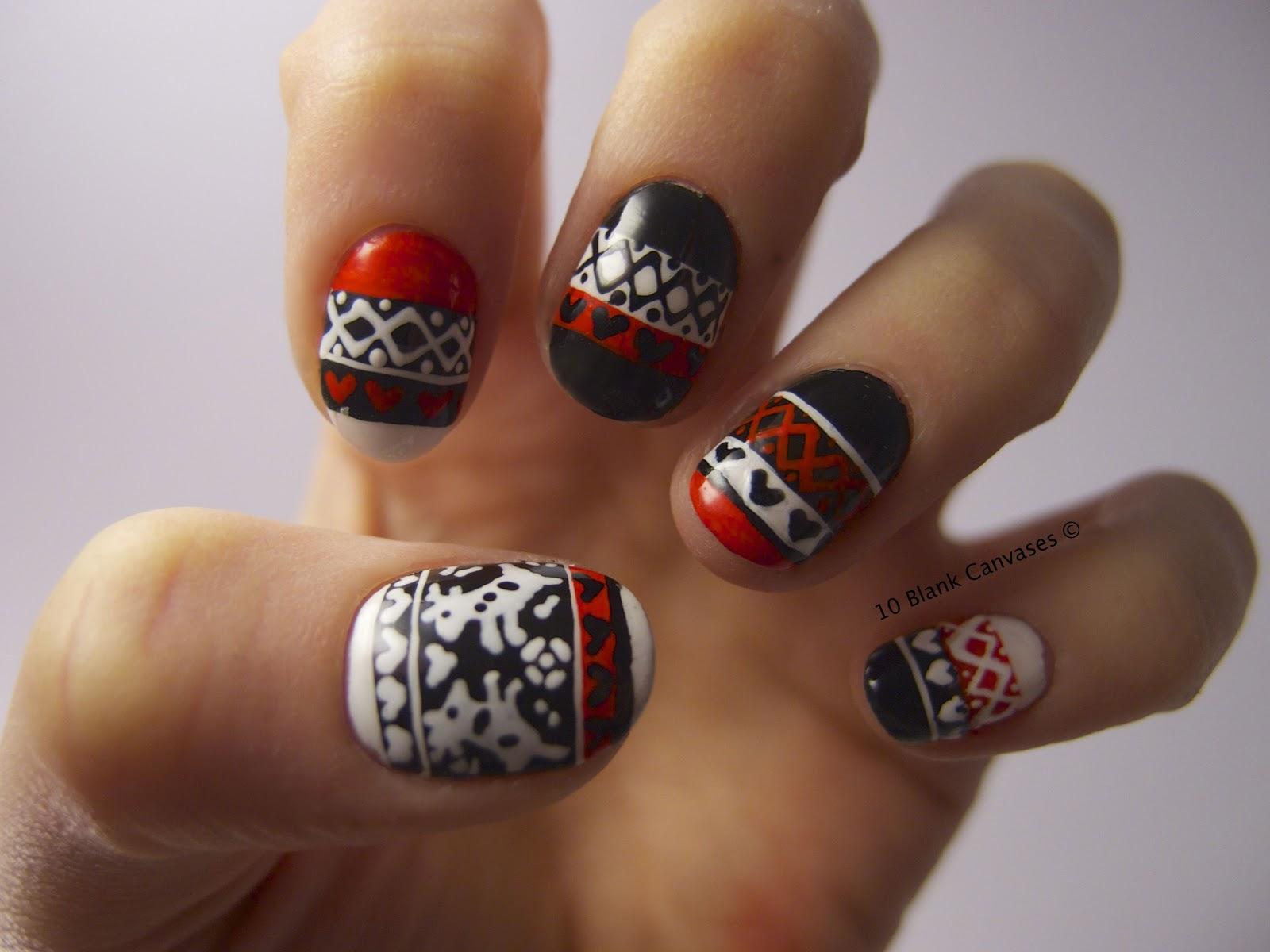Фото простых узоров на ногтях
