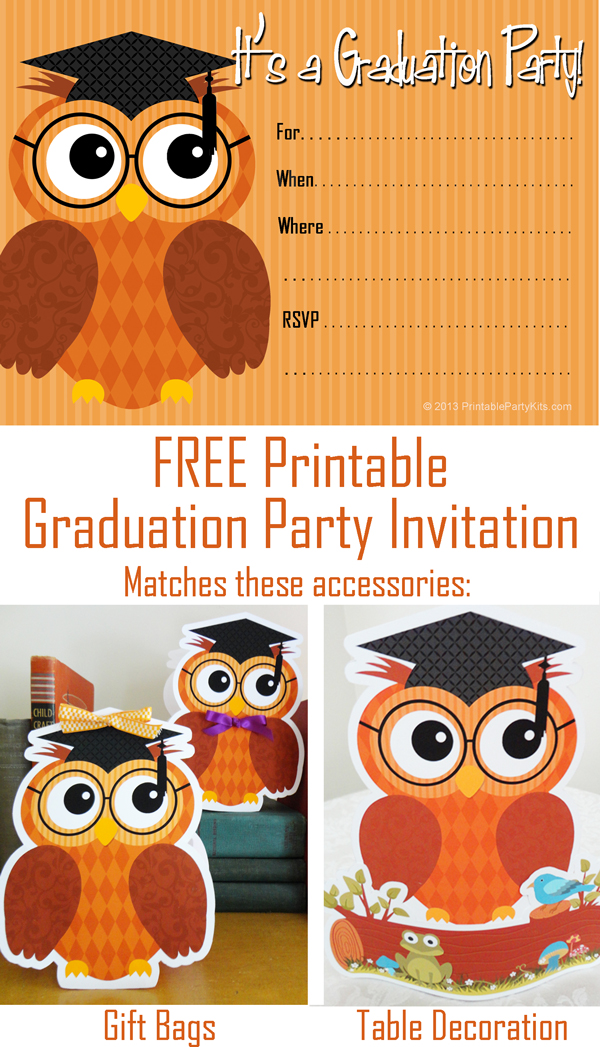 Dynamite image pertaining to free printable graduation party invitations