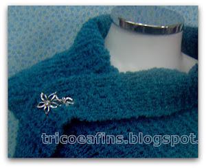 Cachecol colorato azul