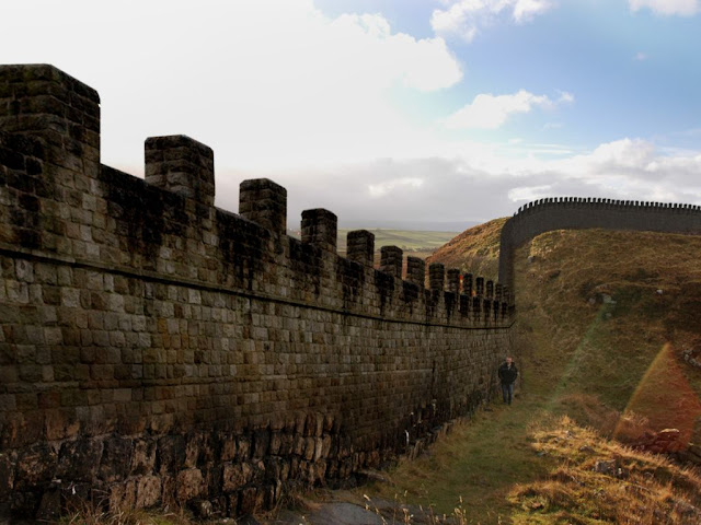 how high the original Hadrian's Wall must have looked