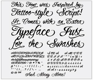Celebrity Tattoo Styles Font