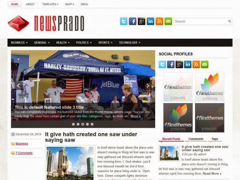 NewsPrado - Free Wordpress Theme