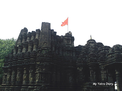 The view of the Lord Shiva Ambernath Temple in Maharastra from the temple compound