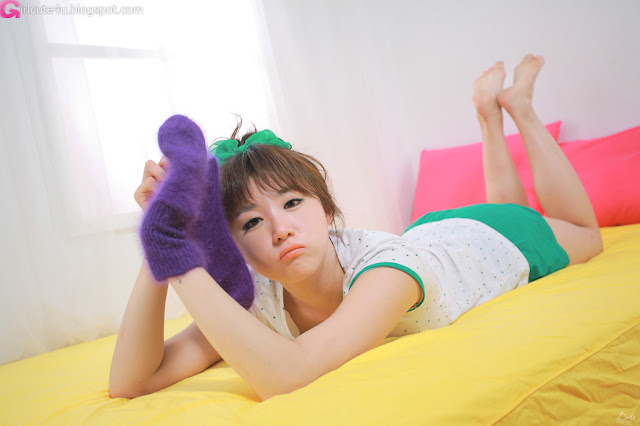 3 Yeon Da Bin - White and Green-Very cute asian girl - girlcute4u.blogspot.com