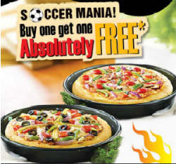 Pizza Hut Buy 1 Get 1 Free Leaflet