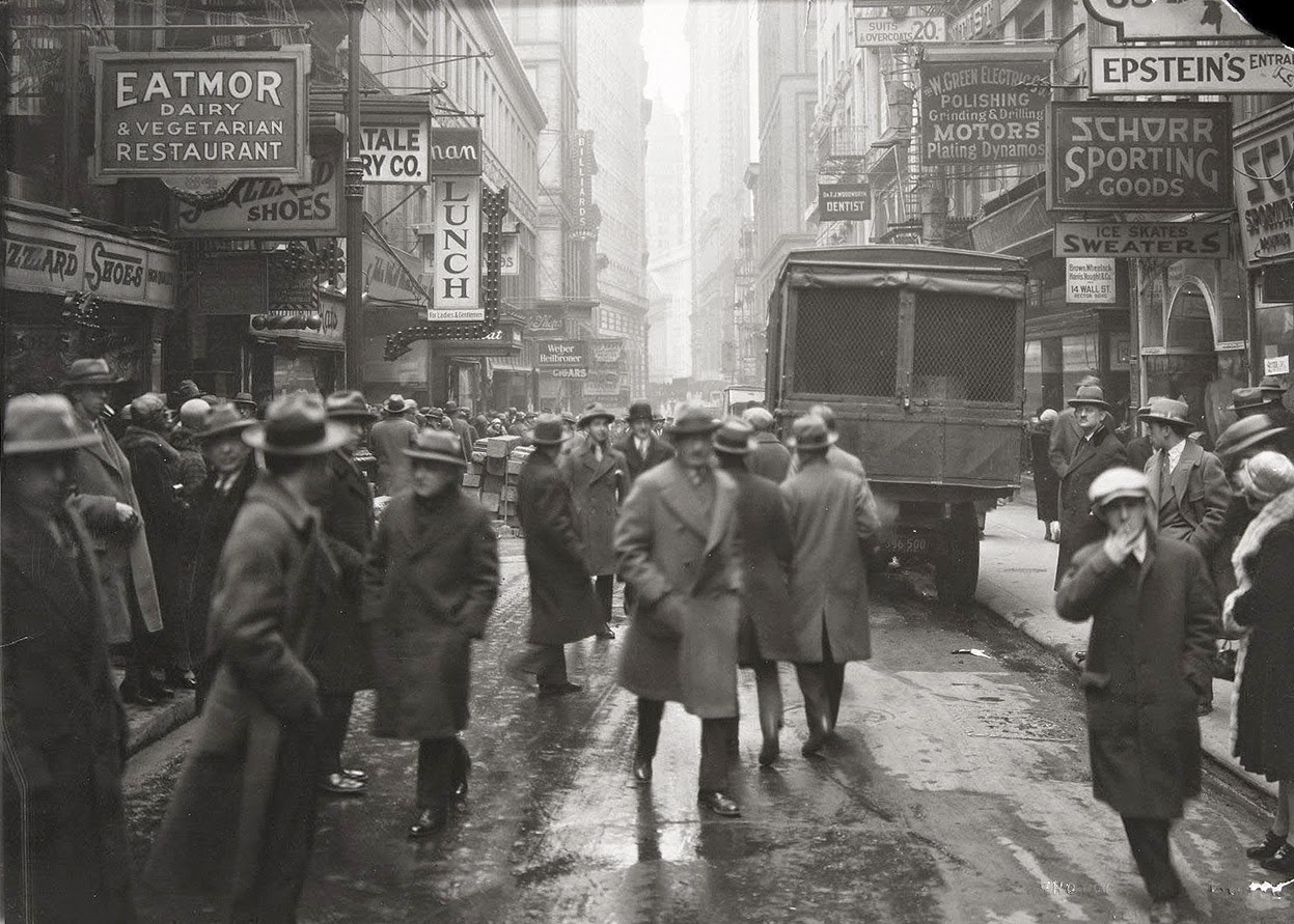 Vintage everyday nassau street looking south from fulton street new