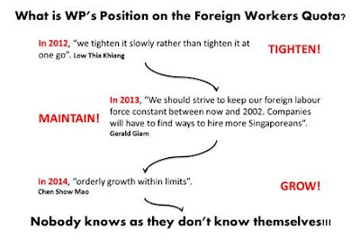 WP position on foreign worker quota for singapore