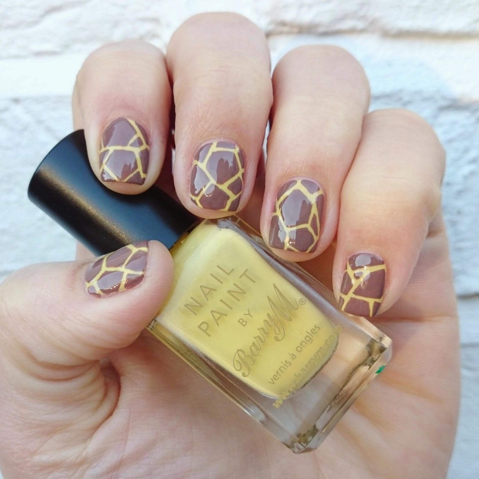 Dahlia Nails Giraffe Print Safari Nails