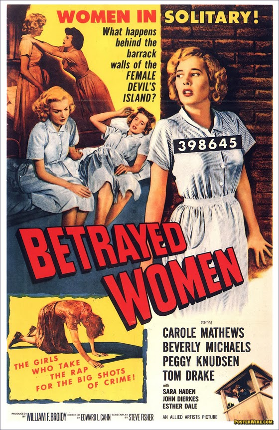 classic posters, free download, free printable, graphic design, horror movie, movies, printables, retro prints, theater, vintage, vintage posters, vintage printables, Betrayed Women, Women in Solitary - Vintage Movie Poster