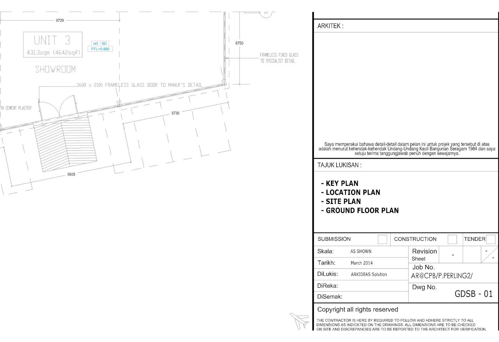 Arkidea design bina rumah di atas tanah for Plan arkitek