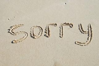sorry escrito en la arena