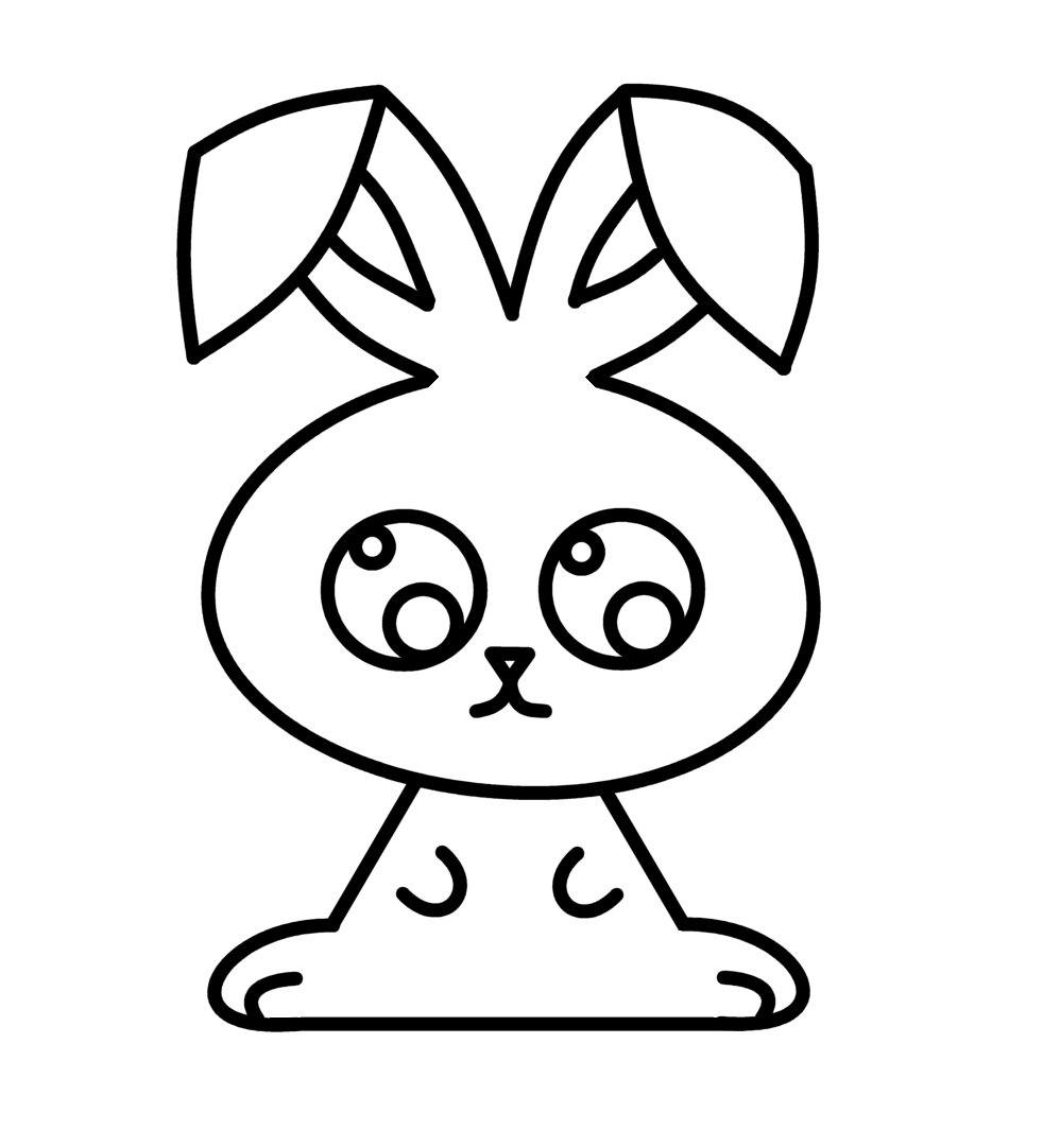 How to draw cartoons easter bunny for Good stuff to draw