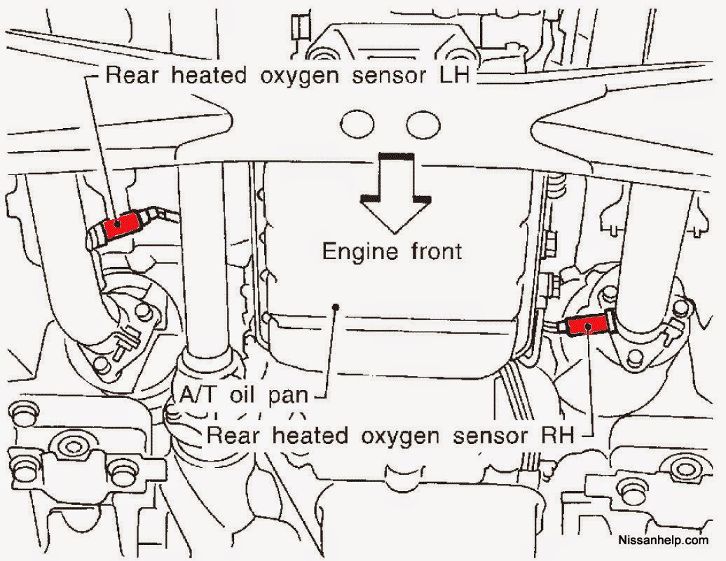 perfektadrenalin  diy  rear passenger o2 sensor for infiniti qx4 and nissan pathfinder r50