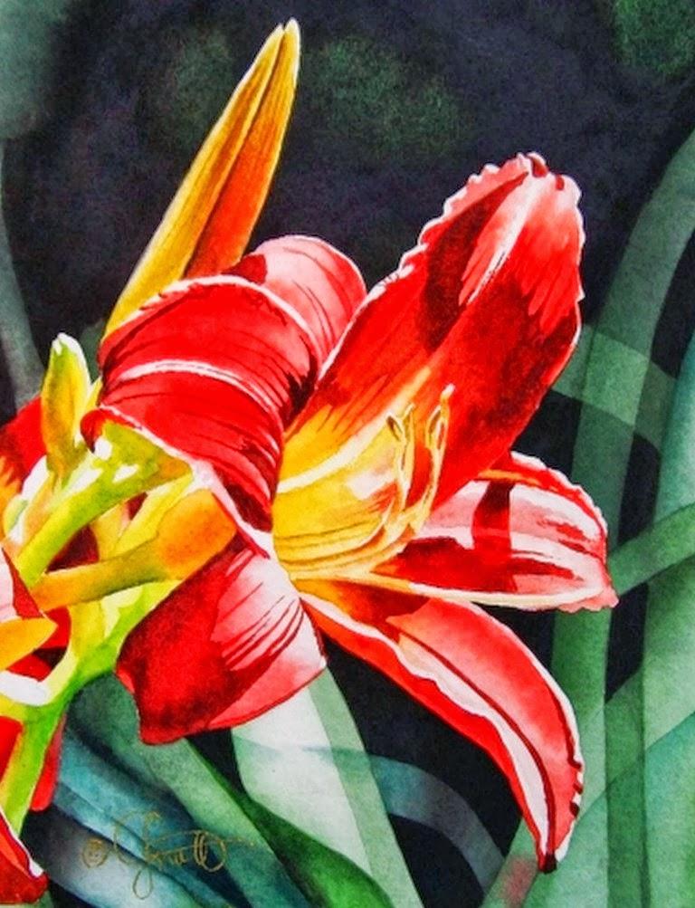Im genes arte pinturas flores decorativas en acuarela for Plantas decorativas