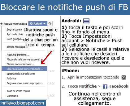 bloccare notifiche push