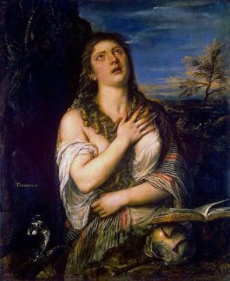 Pintura de Tiziano sobre María Magdalena Penitente