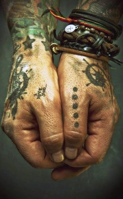 ♥ ♫ ♥ pirate hands | tattoo | ink | leather ♥ ♫ ♥