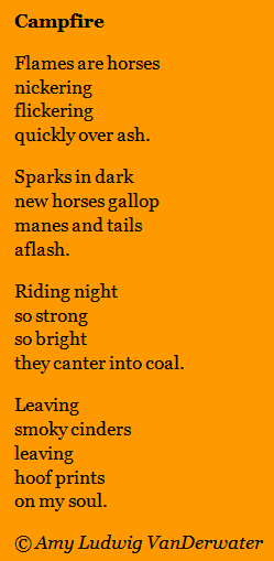 The Poem Farm Flames Are Horses Metaphors