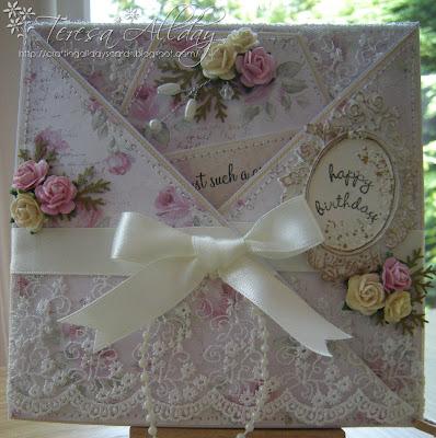 Craftingallday Creations Ribbon Girl Card Challenge Birthday